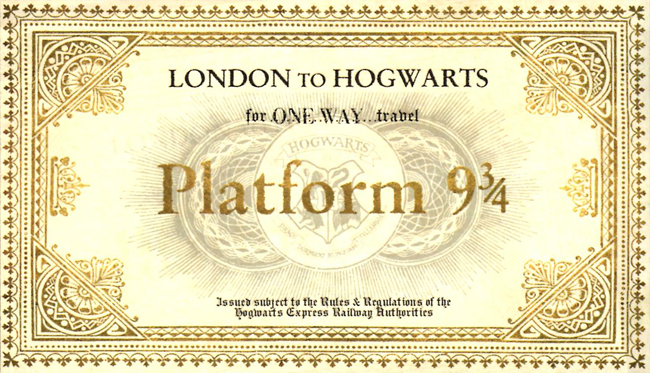 Satisfactory image for hogwarts express ticket printable
